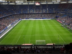 Til fodbold på Volksparksstadion Hamborg-Bayern/At the stadium Volkspark for a football match