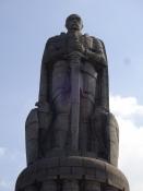 Statue af Bismarck i den gamle Elbpark/Statue of Bismarck in the old Elbpark