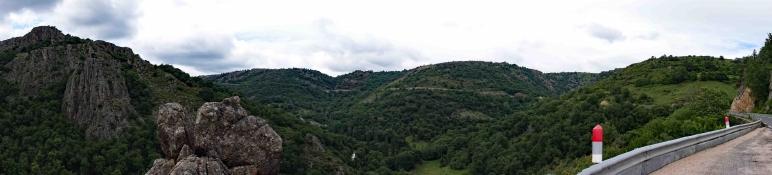 N 106 nach dem Col de Montmirat