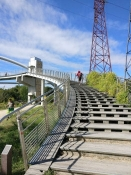 Brücke im Radweg bei Nanterre