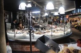 Rouen, Markthallen, Fischstand
