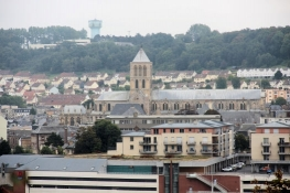 Fécamp, Blick auf die Kirche der heiligen Dreifaltigkeit
