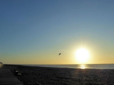 Sunset in Cayeux-sur-Mer