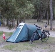 Mit telt er rejst på campingpladsen i Nida/My tent is pitched on Nidaʹs campsite