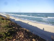 Stranden ved Nida campingplads/The beach near Nida campsite