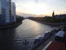 Udsigt fra hotelværelset mod floden og domkirken/View from my hotel room towards river and cathedral