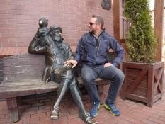 Her har hun fotograferet mig sammen med skipperen/Here she photographed me with a skipper