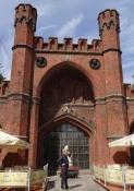 Rossgarten-porten, hvor ravmuseet også har en udstilling/Rossgarten gate with an amber exhibition