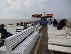Og her krydser vi sammen Wisla-fjorden/And here weʹre together crossing the Vistula lagoon
