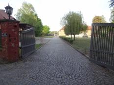 Porten ind til koncentrationslejren Stutthof/The gate into the concentration camp of Stutthof