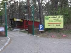 Indkørsel til Camping nr. 69 på Sobieszewska-øen/Entrance to Camping no. 69 on Sobieszewska island