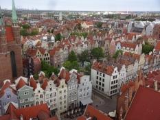 Gdańsk har mange smukke gamle borgerhuse/Gdańsk has many beautiful civil houses