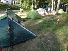 Vores danske lejr på campingpladsen i Waren/Our Danish camp at the campsite of Waren