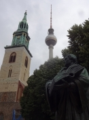 Mariekirken, TV-tårnet og Martin Luther/St. Maryʹs cathedral, the TV tower and Martin Luther