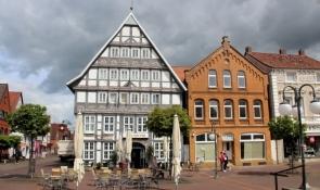 Stadthagen, houses on the market square