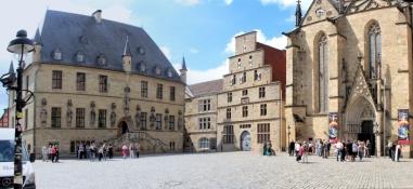 Rathaus, Stadtwaage und St. Marien in Osnabrück