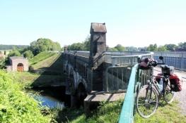 Kanalbrücke der ʺAlten Fahrtʺ des Dortmund-Ems-Kanals über die Lippe