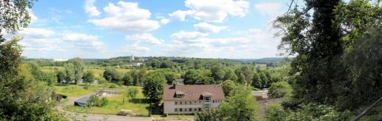 Blick vom Stadtgarten Steele auf das Ruhrtal