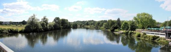 Essen-Steele, Blick von der Ruhrbrücke