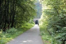Vor dem Tunnel Schee der Kohlenbahn