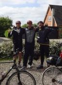 De tre cykelmusketerer er klar til dagens tur/The three bike musketeers are ready for the stage