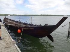 En kopi af jernalderbåden ʺNydambådenʺ/A copy of the iron age boat ʺThe Nydam boatʺ