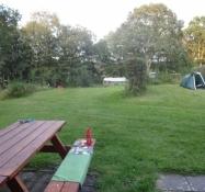 Masser af plads på campingpladsen/Lots of space at the campsite