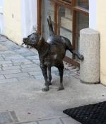 Cham, Skulptur nahe dem Rathaus