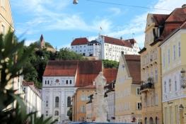 Landau, Neustadt und Burg Trausnitz