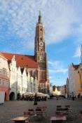 Landshut, Altstadt mit Basilika St. Martin