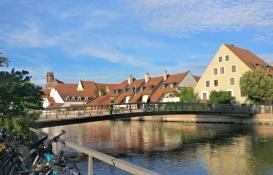 Landshut, Altstadt von der Mühleninsel gesehen