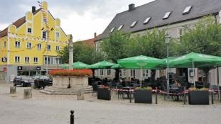 Mainburg, market square