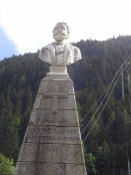 Monument to Louis Favre, the constructor of the Gotthard railway tunnel, at Goeschenen
