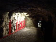 A glance into the exhibiton tunnel at Goeschenen