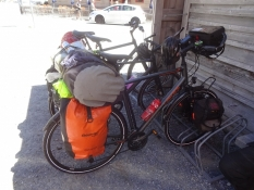Our bikes rested, while we ventured on a long mountain walk