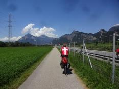 Alexanderʹs easy to spot in his Danish national bike jersey