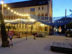 Nice and peaceful atmosphere in the streets of the capital Vaduz