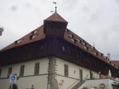 Das mittelalterliche Kaufhaus in Konstanz, wo der Papst gewählt wurde während des Konstanzer Konzils