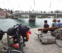 Die Rheinbrücke in Stein am Rhein, wo unsere Tour endete
