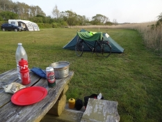 A quiet evening on the campsite of Vesterlyng near Havnsoe