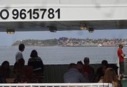 Auf der Fähre über die Mündung des Isefjords zwischen Rörvig und Hundested