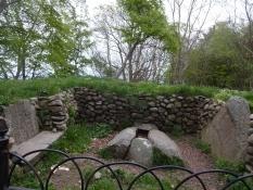 Leuchtturmwärter Kristian Fabers Grab nahe Nakkehoved Leuchtturm