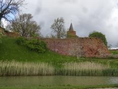 Impressive ruins of Denmarkʹs largest medieval fortress in Vordingborg