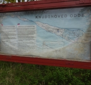 An old sign told about headland, I was about to visit