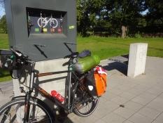 Eine kleine Fahrradwerkstatt zum Selbermachen nahe der alten Kleinen Beltbrücke