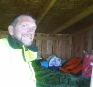 Mein bescheidenes Nachtlager in einem Shelter auf dem Campingplatz von Kysing