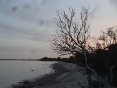 Von diesem Strand hatte ich ein schönes Abendbad ohne alles
