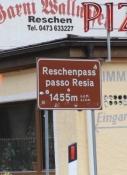 Am Grenzübergang Reschenpass
