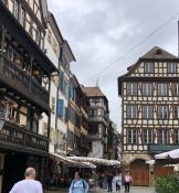 Viele Fachwerkhäuser in der Altstadt von Straßburg