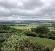 Aussicht gen Osten vom Montsec-Hügel. Wohin die Deutschen sich nach der Schlacht zurückzogen